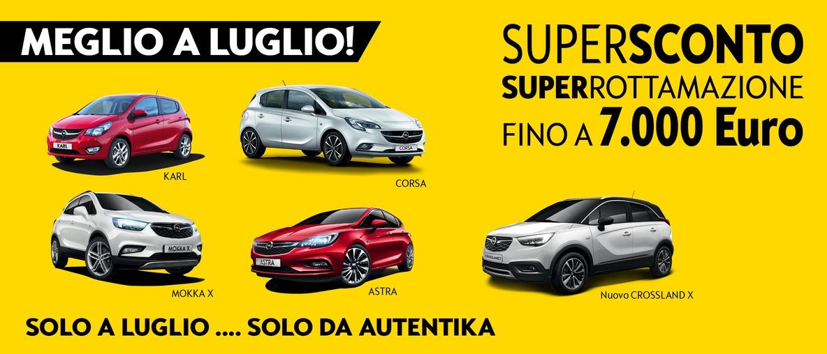 Opel Autentika offerta luglio