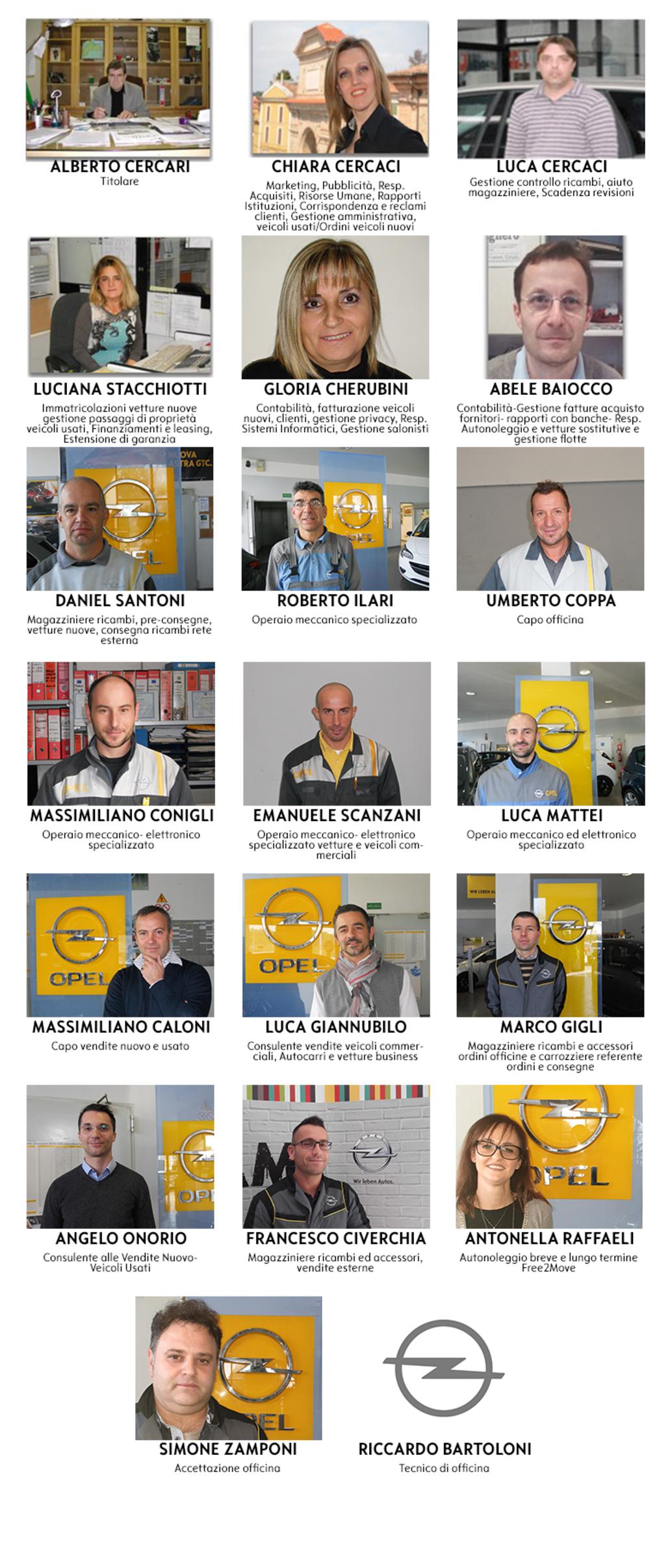 almauto opel staff page